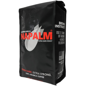 Napalm Coffee Strong Dark Extra Bold Ground Whole Bean Bag